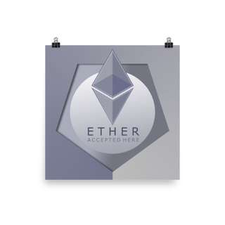We now accept ethereum as payment method