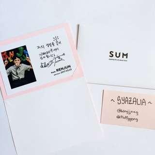 NCT Dream Renjun COEX Birthday Card