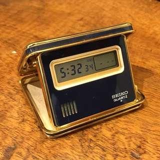 Seiko LCD 石英 旅行鬧鐘 日本製 70年代