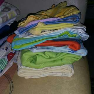 All preloved rompers, bib n topi