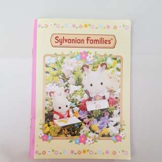 Sylvanian families notebook and stickers