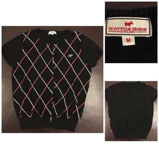 Scottish House格紋針織短罩衫