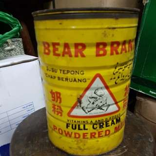 Vintage Tin Milk - Bear Brand