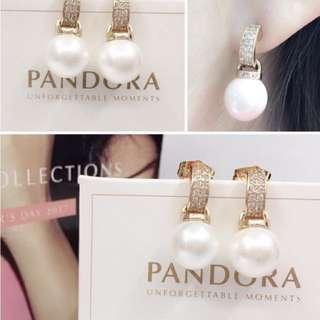 Pandora Pearl earrings