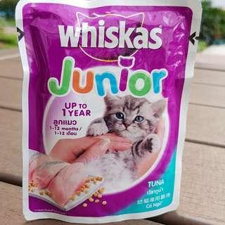 WHISKAS Junior Cat Food Pouch - 85g