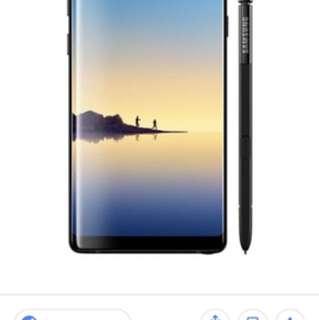 Samsung note 8, 256G, 100%new, 行貨, 有一年原廠保養, 未開