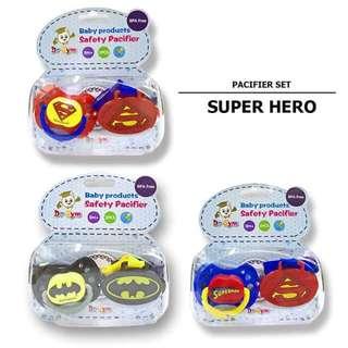 Super Hero Pacifier Set