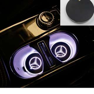 MERCEDES-BENZ AMG STAR CUP HOLDER MAT MULTI-COLOUR LED LIGHT