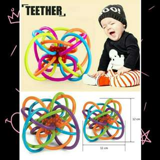 Baby Hand Bell Rattle Teether Toy
