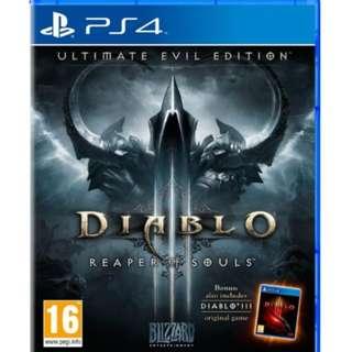 PS4 Diablo Ultimate Evil Edition (Reaper Of Souls) (R2)