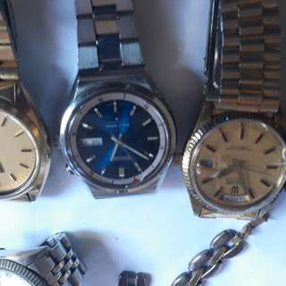 vintage watches of mid 1900  sold individual  be noted again all this are vintage & as alarm watches all as value buyer be noted