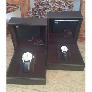 2 for $360 Vintage Lover's watches for gift,  genuine leather with complete boxes and packing.