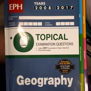 GEOGRAPHY TOPICAL ASSESSMENT BOOK