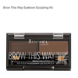Rimmel eyebrow sculpting kit - dark brown