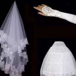 Bridal Veil/ Can can / Gloves