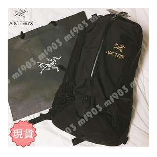 Arcteryx Arro22 Backpack Black 原祖黑 Visvim 背包 戶外 Wtaps 不死鳥 Chanel 背囊 防水 Y3 書包 旅行袋 Mystery Ranch
