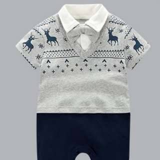 *Ready Stock* Cotton Little Deer Gentleman Jumpsuit / Romper for Baby