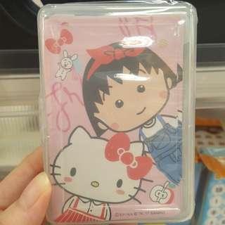 台灣代購 hello kitty x 小丸子 樸克牌 pair 牌