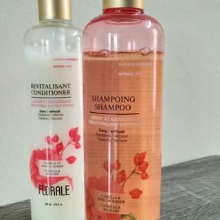 The face shop floral shampoo and conditioner