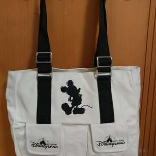 HK Disney Mickey Mouse 側孭袋。米白色