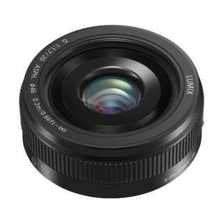 NEW Panasonic 20mm f1.7 II (Black or Silver) LUMIX G ASPH. Lens