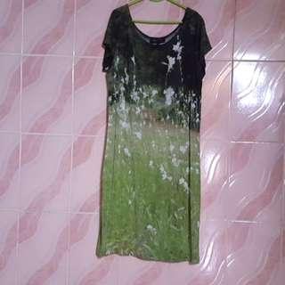 agnes.b jersey photograph print dress