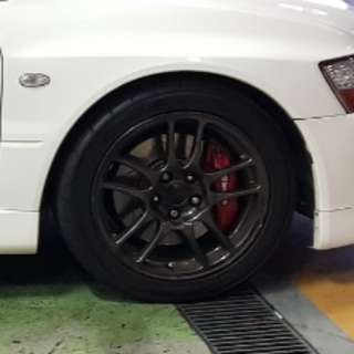 Evo 9 Stock Enkei 17 Rims
