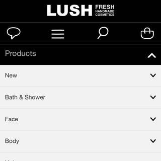 LUSH BODY , BATH BOMB & PRODUCTS