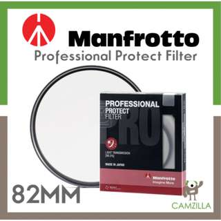 Manfrotto Professional Protect Filter 82mm (Malaysia Warranty)