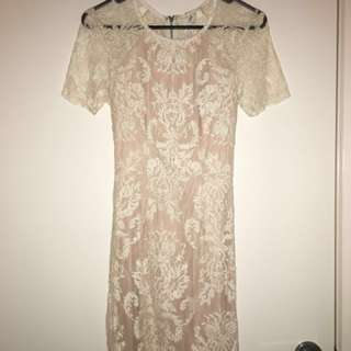 Brand new Cream lace dress with tags
