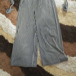 Squared stripe pants