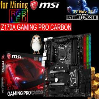 MSI Z170A GAMING PRO CARBON for 8 GPU Mining.