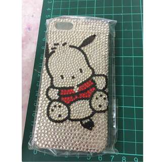 DIY Pochacco PC狗 iphone 5 閃石 電話殼  手機殼