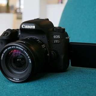 Kredit Canon EOS 77D DSLR Camera with 18-55mm Lens - Cicilan tanpa kartu kredit