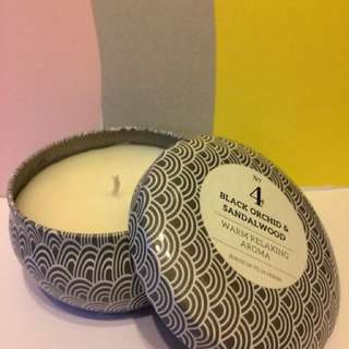 Black orchid & sandalwood relaxing aroma candle/ 黑蘭花配搭檀木爉燭