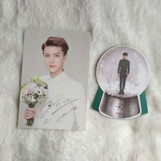 Exo Sehun Nature Republic Postcard