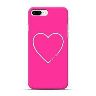 Love Pink Heart iPhone 8 Plus Custom Hard Case