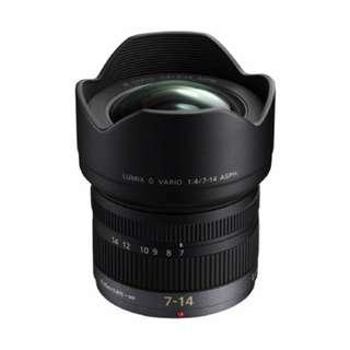 NEW Panasonic 7-14mm f4 Lumix G Vario ASPH. Lens (7-14)
