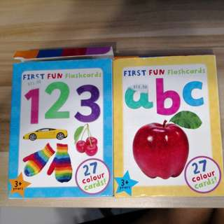 ABC, 123 flashcards