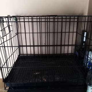 Pre loved dog cage large