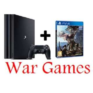 PS4 1Tb Pro Bundle Monster Hunter Worlds Region 2