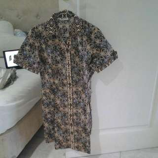Batik Keris Lengan Pendek Dress Size M