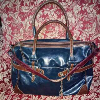 Two way leather bag