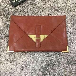 Asos brown clutch bag