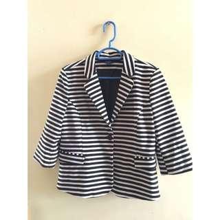 Reitmans stripe suit jacket 間條西裝外套muji