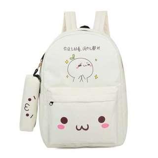 Korean Design Canvas Backpack