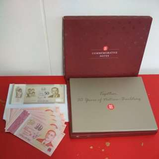 [WTS] Brand New Special Edition 2015 SG50 Commemorative Notes. In denom $50 n $10. Loose Pcs Accepted But No Folder. Special Hard Cover Folder To Display A Set Consists Of 1 $50 N 5 $10. Diff Designs on $10. Suitable As CNY Angbao.See All Pics.