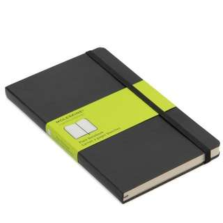 Moleskine large notebook plain, ruled or squared pages. Brand new, guaranteed authentic! Receive in same day possible!
