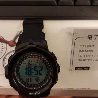30M防水電子夜光錶