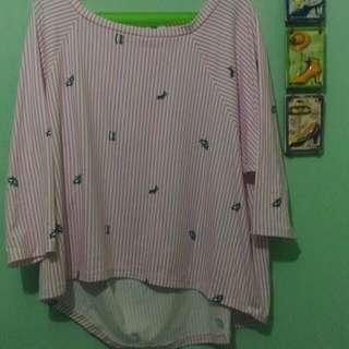 3/4 Pink stripes